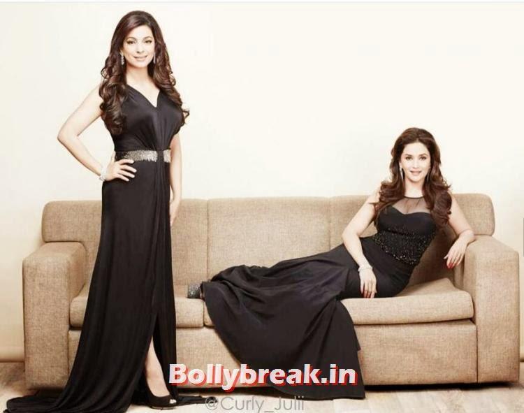 , Madhuri Dixit and Juhi Chawla Filmfare Magazine Scans