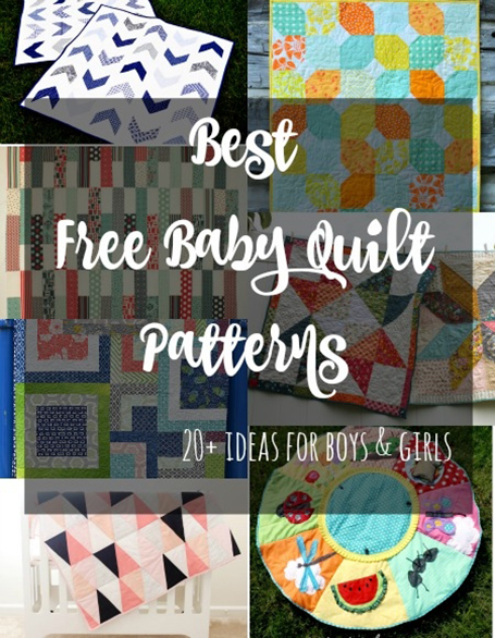 Best Free Baby Quilt Patterns collected By Stephanie of Swoodson Says for So Sew Easy