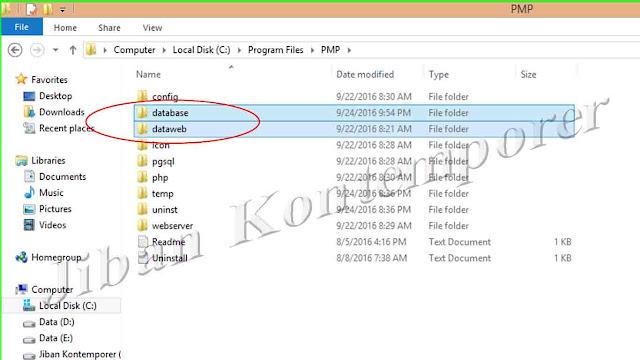 Cara Backup dan Merestore Data Aplikasi PMP