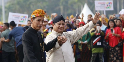 Survei Litbang Kompas: Jokowi-Ma'ruf 49,2%, Prabowo-Sandi 37,4%