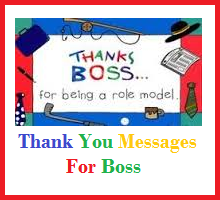 Thank You Messages! : Boss