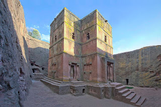 ROCK-HEWN CHURCHES IN ETHIOPIA.