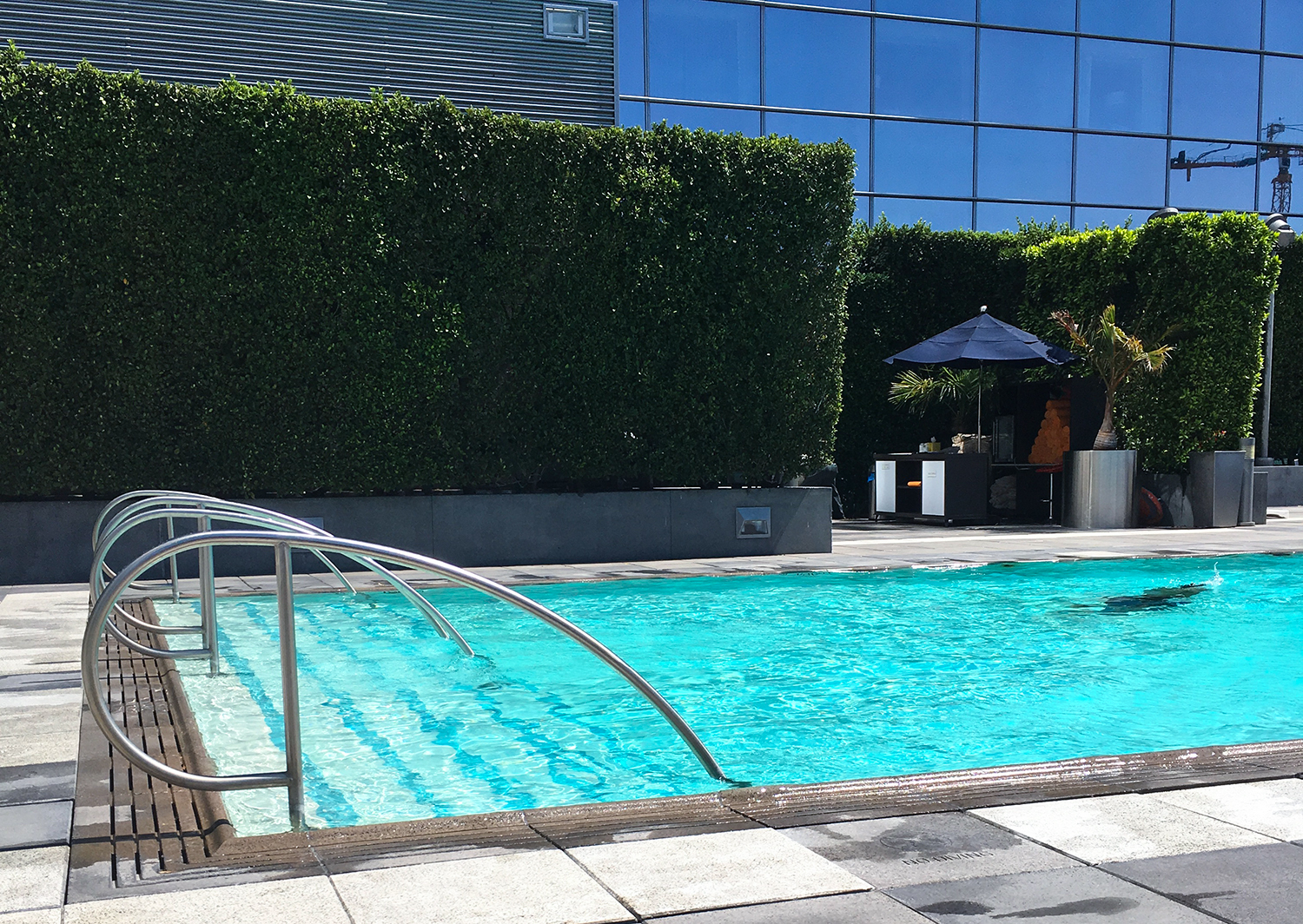 Marriott hotel, Downtown Los ANgeles, California. Outdoor Swimming pool