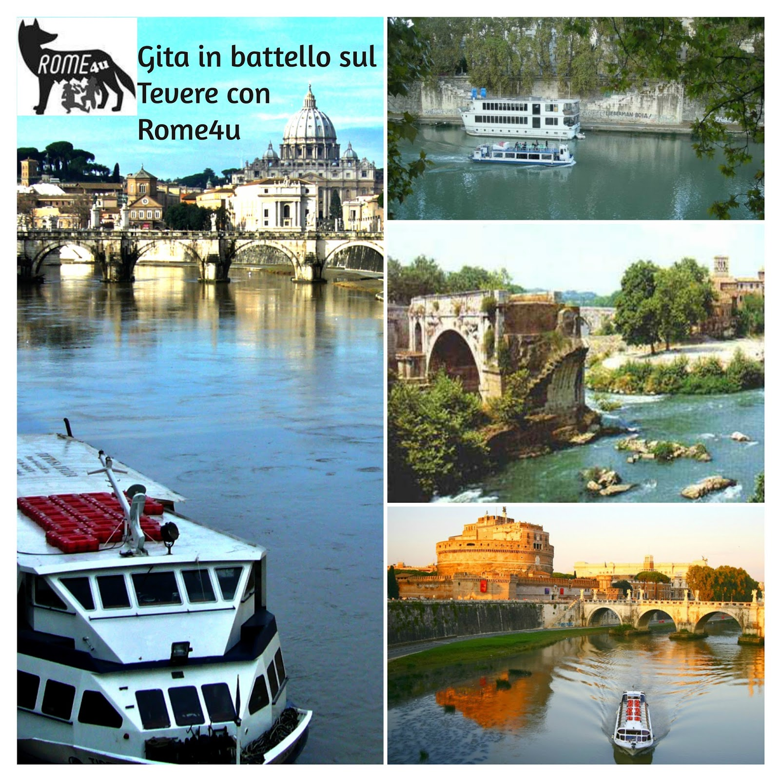 Domenica 14 aprile, h 10.30 Gita in battello con visite guidata sulle bellezze di Roma