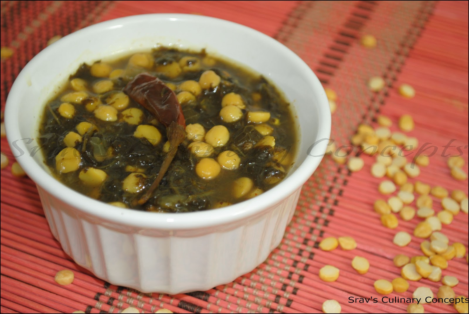 ab0a687485f6 Srav s Culinary Concepts  Channa Dal with Sorrel leaves