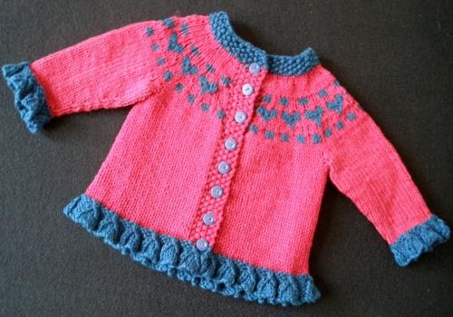 Baby Heart Cardigan - Free Pattern