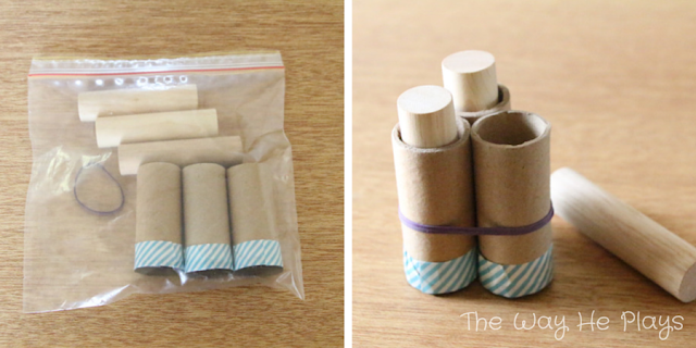 Montessori Cylinder Blocks | 20 Busy Bags for Busy Little People