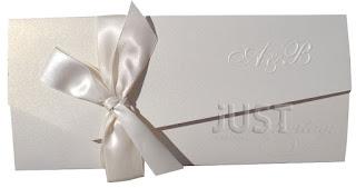 satin bow wedding invitations