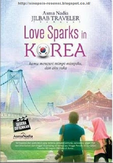 Resensi Novel Love Sparks In Korea, Sinopsis Novel Jilbab Traveler