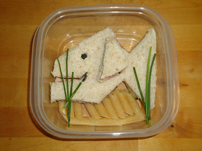 Top Ender's Fish shaped sandwich