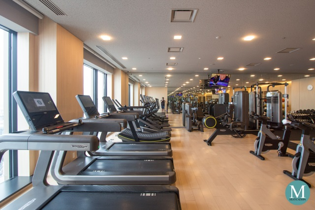 fitness center gym at Conrad Osaka