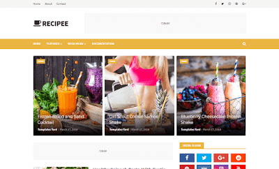 Recipee Food Blogger Template