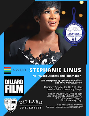 Stephanie Linus To Screen 'DRY' & Speak At Ray Charles Week - Dillard University, New Orleans