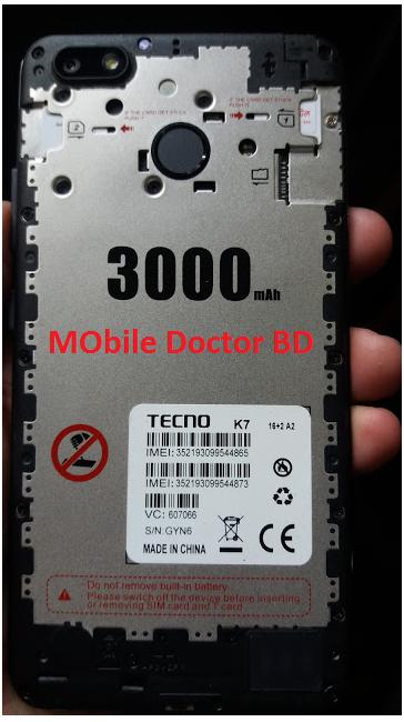 Tecno K7 Firmware 16+A2 Flash File MT6580 Version 7 0 ( 2