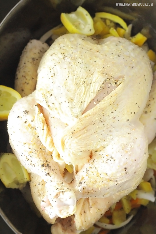 Slow Cooker Lemon Pepper Chicken