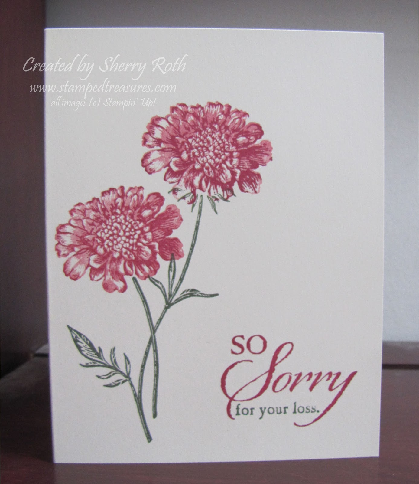 Sherrys Stamped Treasures Field Flowers Sympathy Card