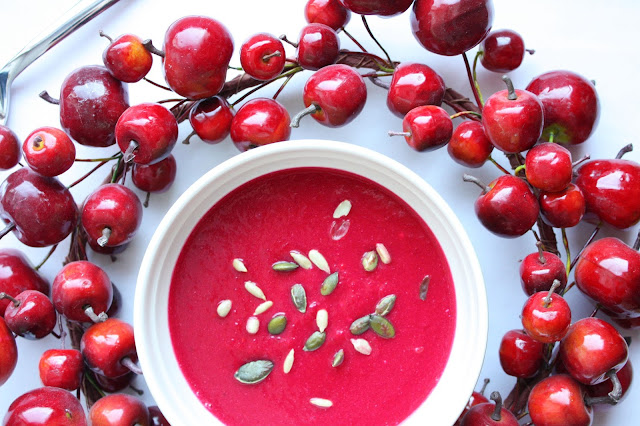 punajuuri-vuohenjuustokeitto punajuuri vuohenjuusto keitto mallaspulla