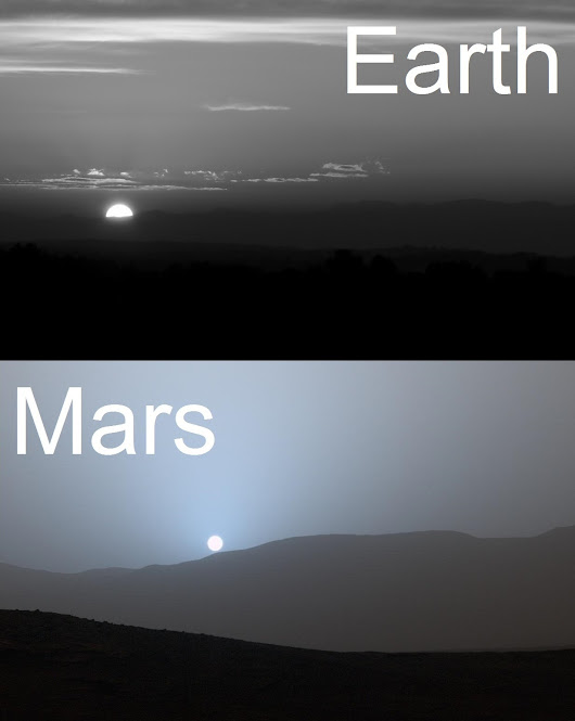 One Sun, Two Worlds - Sunset on Earth & Mars