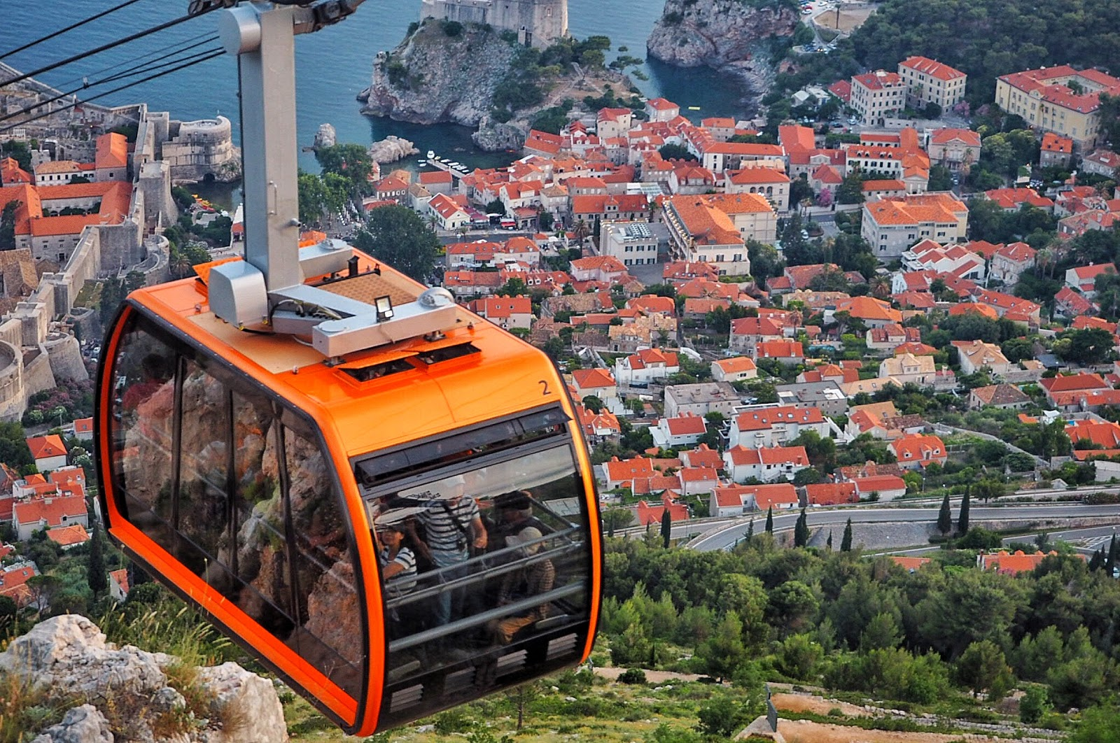 Dubrovnik cable car views of the old city