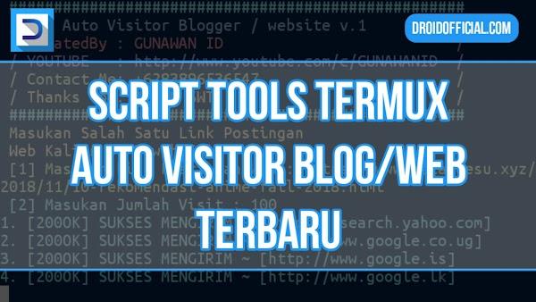 Script Termux Auto Visitor Blog/Website Terbaru