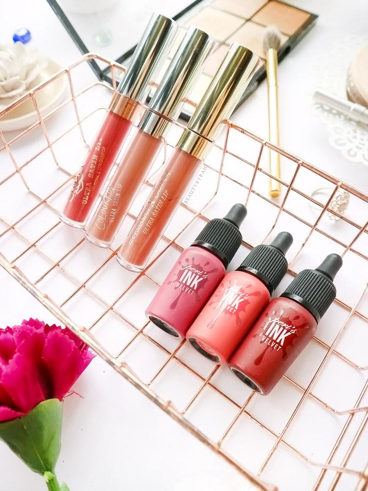 Peri Pera Ink Velvet Lip Tints and Colourpop Ultra Satin Lips 951, Mrs and Aquarius review