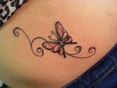 Fantástico Estômago Tatuagem De Borboleta