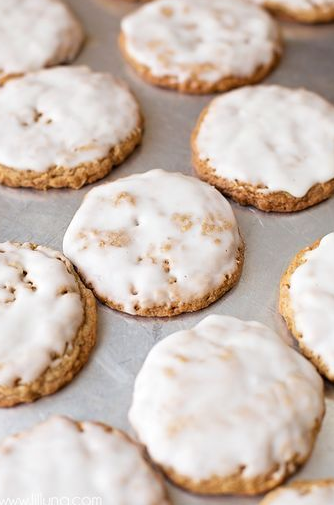 OLD FASHIONED ICED OATMEAL COOKIES RECIPE