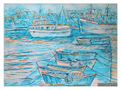 морской пейзаж живопись, морские пейзажи картины художников