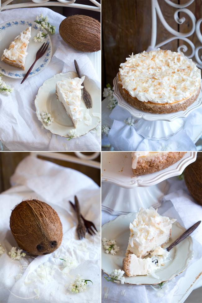 sernik kokosowy z kremem kokosowym