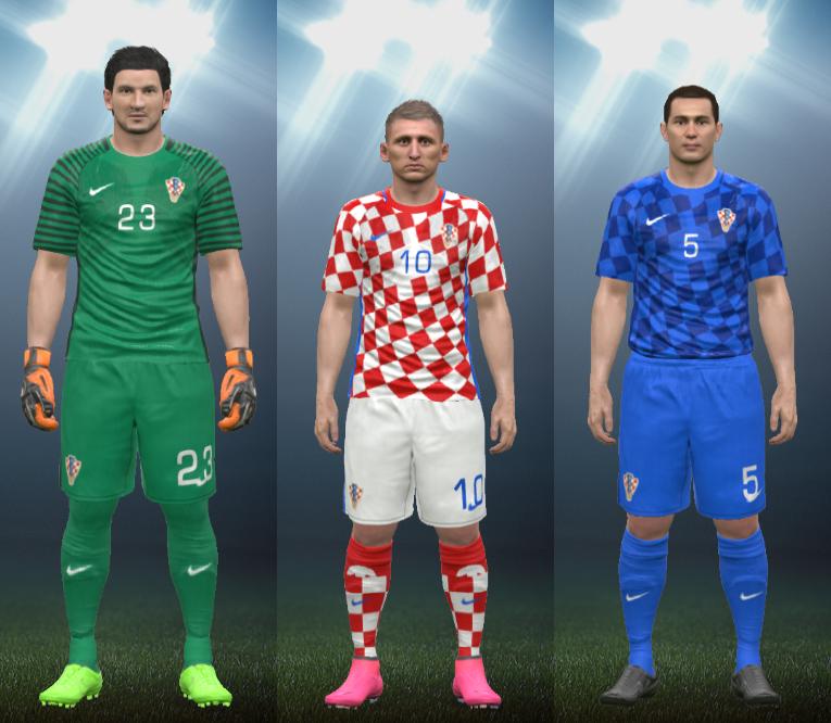 19e2cbe72 Wepes Sport  Uniforme Seleção Croata 2016 - Pes 2016 (PC PS3)