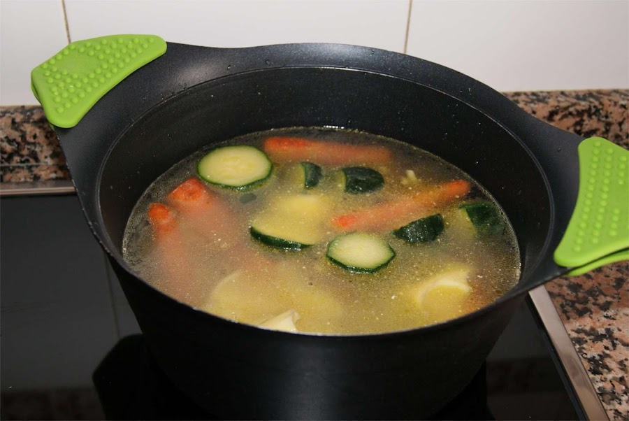 crema de verduras con almejas paso 3