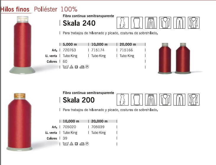 poli/éster, 39 colores Hilo de coser SILMEN