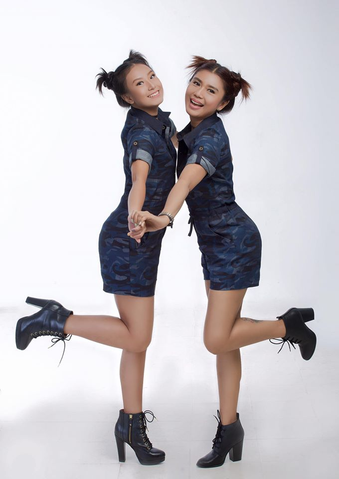 Khine Thin Kyi and Her Daugther New Studio Photoshoot For Fashion Magazine