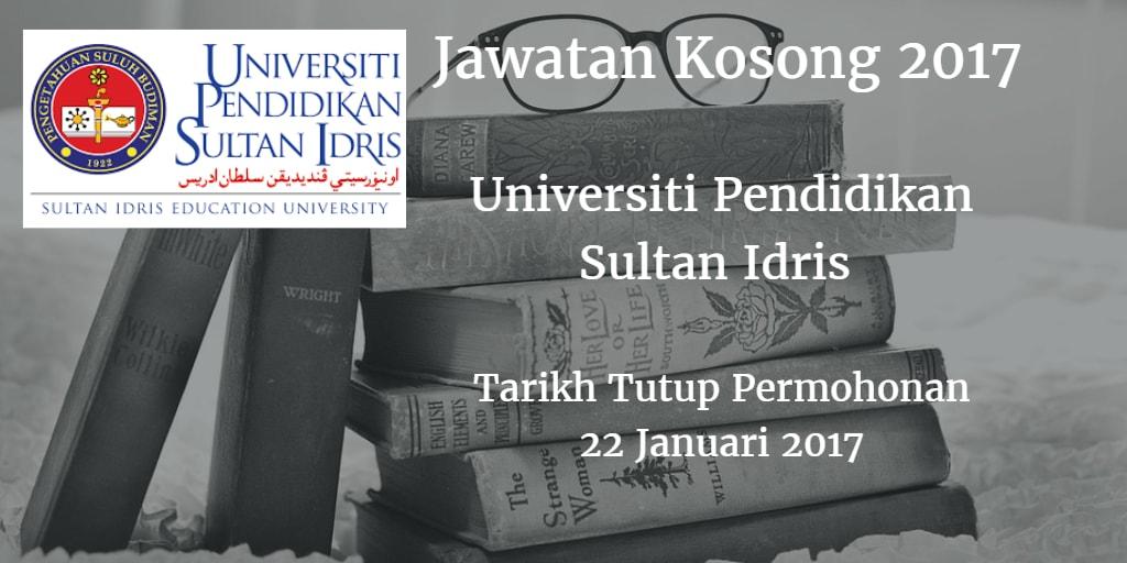 Jawatan Kosong UPSI 22 Januari 2017