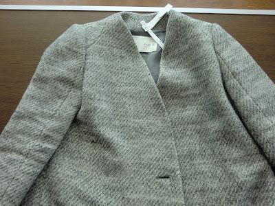 ウールコートの色素しみ抜き写真 金沢市でブランド品のクリーニングとシミ抜きの上手い店