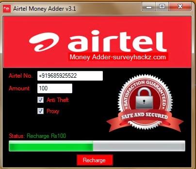 steps to use airtel money adder v31 - Visa Debit Card Money Adder