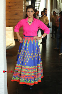 Actress Mannar Chopra in Pink Top and Blue Skirt at Rogue movie Interview  0120.JPG