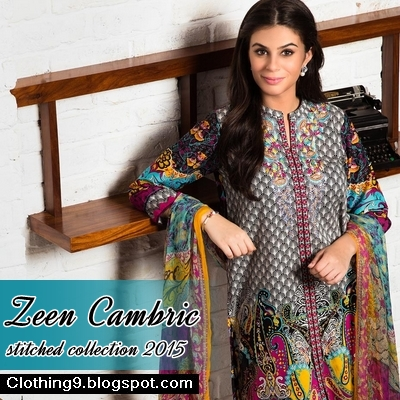 3aa66776f5 Here we have new collection of Zeen women launched for winter wear on  cambric in stitched format. As day by day weather is getting mild and cold;  ...