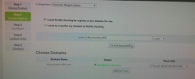 Tutorial Cara Daftar Domain Servis NetKL