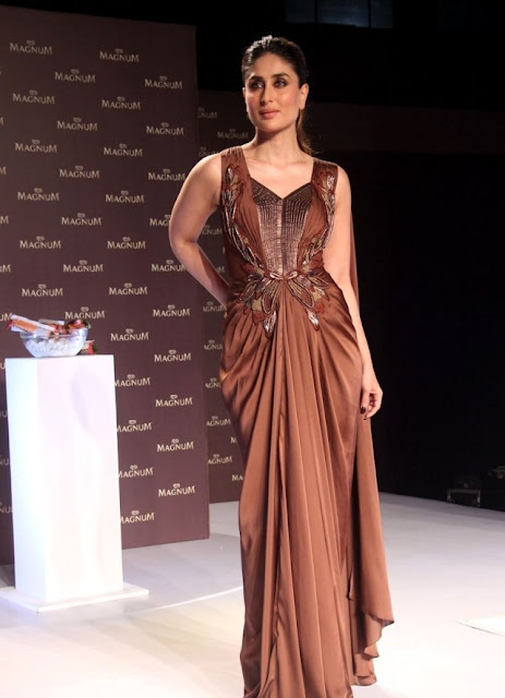 Kareena Kapoor In Amit Aggarwal Evening Gown For Magnum Launch