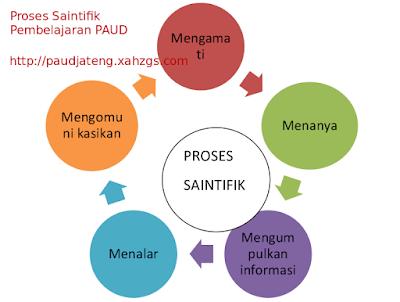 Kumpulan 5 Contoh Dukungan Guru Penerapan Saintifik PAUD 5 Tahap/ Proses Pendekatan Saintifik PAUD  Proses Mengamati Proses Menanya Proses Mengumpulkan Informasi Proses Menalar Proses Mengomunikasikan