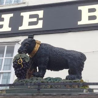 Bear statue on Bear hotel Devizes