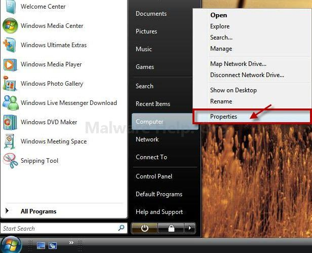 Turn System Restore off or on Windows Vista in pictures