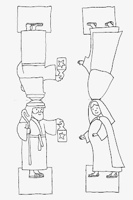 Maria und Josef Bastelvorlage
