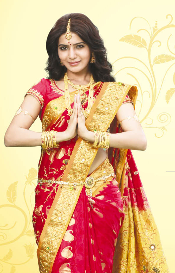 Samantha saree photoshoot Saravana Stores