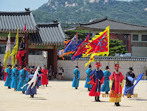 Changing of The Guard ceremony, Gyeongbokgung Palace, Seoul, South Korea