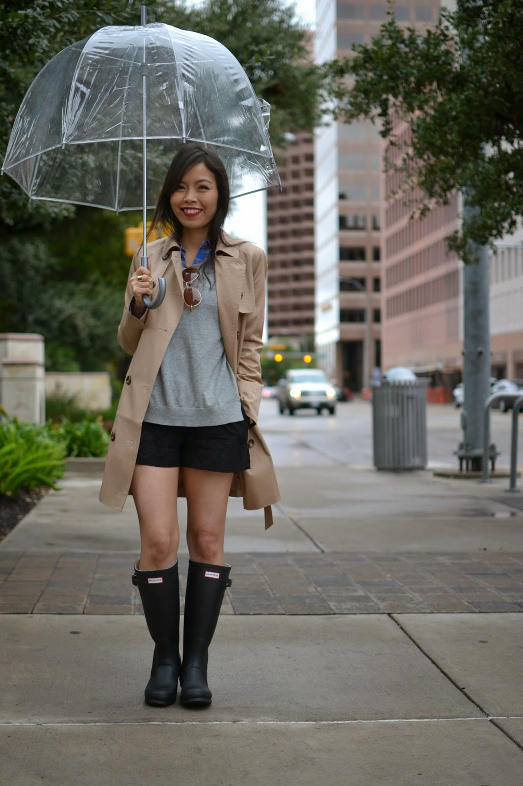 Hunter+bootsrain+bootstrench+coatASOS+trenchlayered
