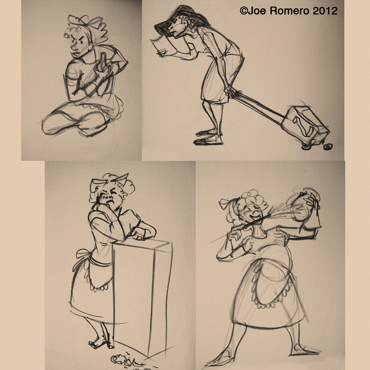 Cleaning Lady Resume Joe 39s Art And Animation Gesture Drawing Cleaning Lady