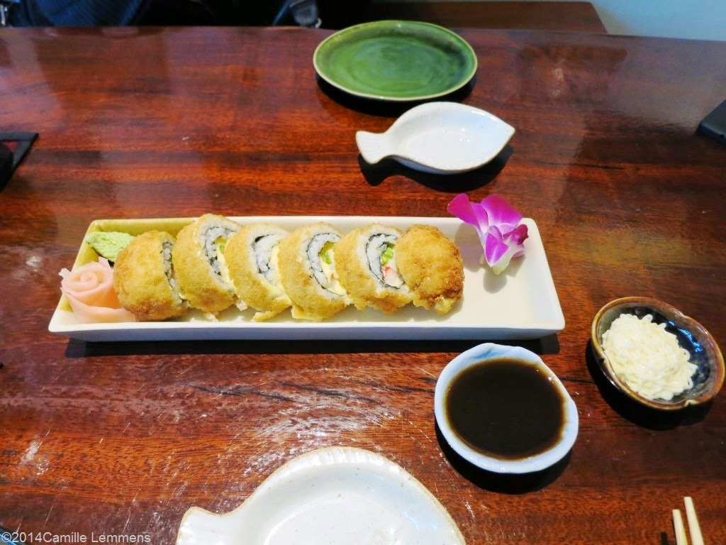 Kobori; crab stick cheese roll