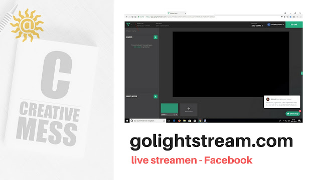 onlinetool golightstream.com - streamen nach Facebook